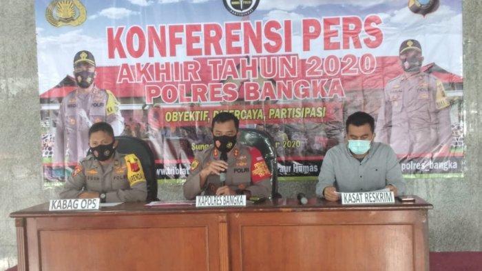 Jumlah Aksi Kejahatan 2020 di Polres Bangka Menurun, Pencurian Meningkat Gara-gara Pandemi Covid-19