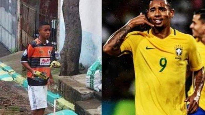 Kisah Unik Striker Timnas Brasil Gabriel Jesus Pernah Jadi Tukang Cat Jalanan saat Piala Dunia 2014