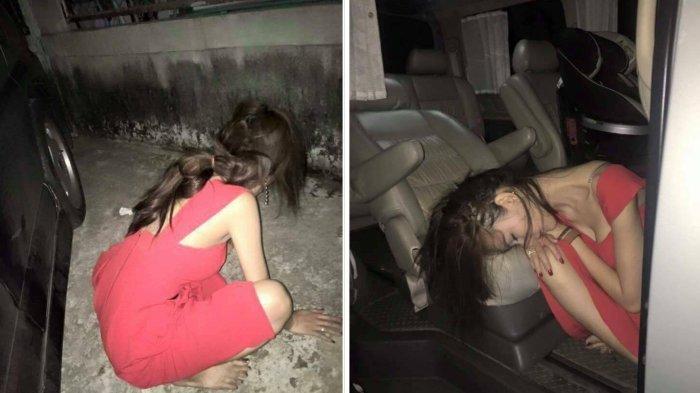 Gara-gara Mabuk Berat, Gadis ini Diperlakukan Tak Senonoh oleh Temannya, Foto-fotonya Jadi Viral