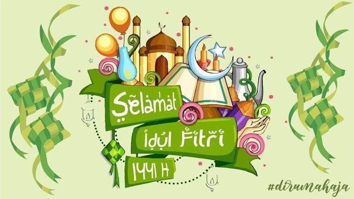 Gambar Ucapan Selamat Idul Fitri 1441 H, Bagikan via WhatsApp, Instagram, Twitter atau Facebook