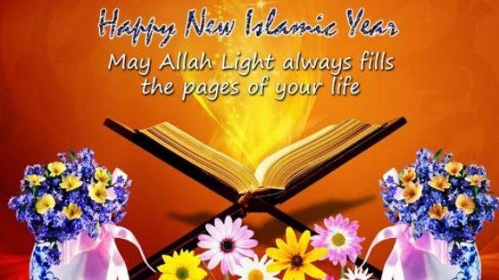 Contoh Gambar Ucapan Selamat Tahun Baru Islam 1 Muharram 1441 H, Ada Bahasa Indonesia dan Inggris