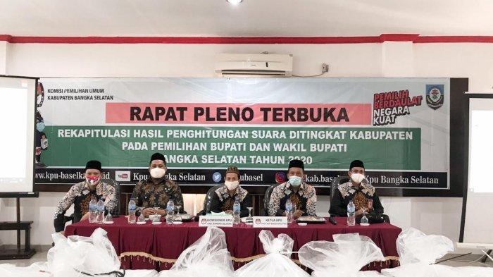 KPU Bangka Selatan Rampungkan Rekapitulasi Perolehan Suara dengan Total 99.448 Suara