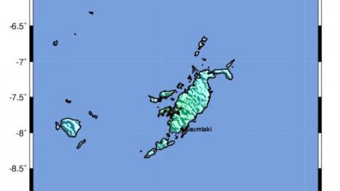 Gempa Terkini di Pulau Tanimbar, Pusat Gempa di Darat