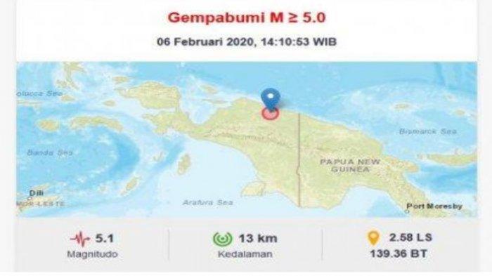 Gempa Hari Ini Terjadi di Papua Berkekuatan Magnitudo 5.1 SR, Baca Doa Ini Saat Gempa