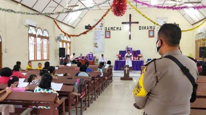 Jelang Natal dan Tahun Baru 2021, Polsek Belinyu Tingkatkan Pengamanan Gereja-gereja