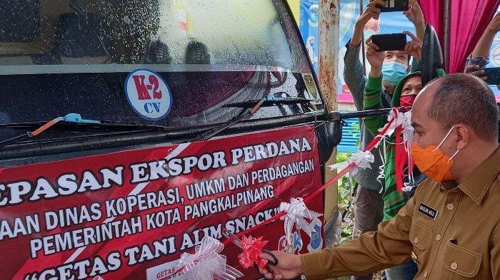 Ekspor Perdana Satu Ton Getas Tani Alim Snack ke Singapura, Wali Kota Pangkalpinang Bangga