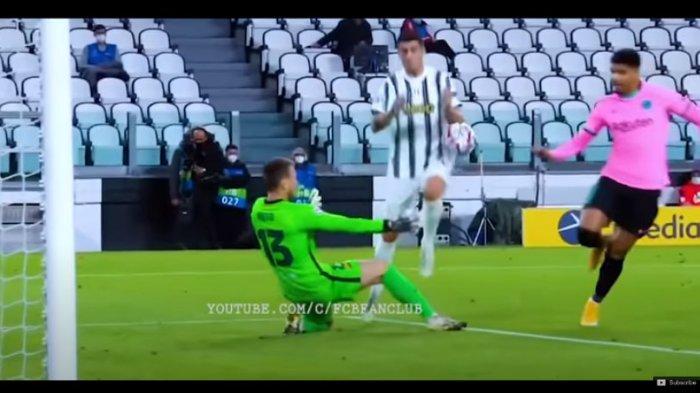 Gol Morata yang dianulis wasit karena handball