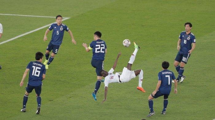 Qatar FantastisJuara Piala Asia 2019, Gol Salto Al Moez Ali Bikin Melongo Kiper Jepang