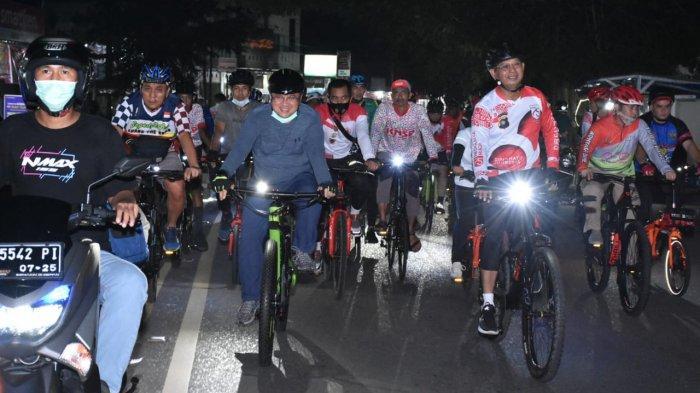 Gubernur Bangka Belitung dan Forkopimda Babel Gowes Malam Keliling Pangkalpinang