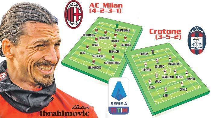 Liga Italia AC Milan Vs Crotone, Zlatan Ibrahimovic Bidik Gol Ke-500