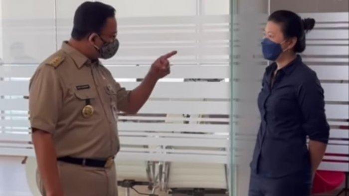 DKI Jakarta PPKM Darurat, Anies Baswedan Tunjuk-tunjuk Manager HRD Lihat Ibu Hamil Ngantor