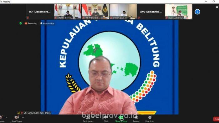 Gubernur Erzaldi Laporkan Evaluasi Pelaksanaan PPKM Level 4 Kepada Menko Perekonomian