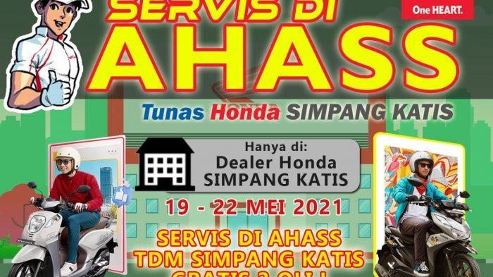 Promo Usai Lebaran, Hanya di Dealer Honda Simpang Katis Servis Gratis Dua Oli, Setiap Harinya