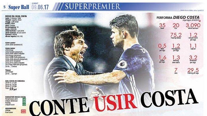 Diego Costa Sebarkan SMS Conte ke Petinggi Klub Chelsea