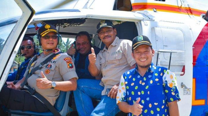 Gubernur dan Bupati Belitung Pantau Pembangunan Selat Nasik Melalui Udara.