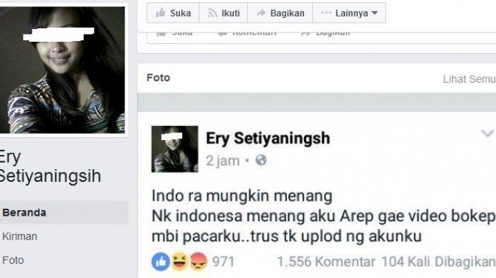 Bikin Heboh, Akun Ini Janji Bikin Video Mesum Bila Indonesia Menang atas Thailand Jadi Viral