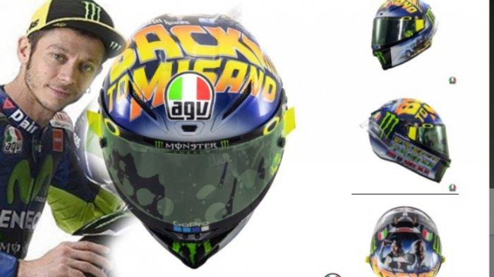 Moto GP Misano - Rossi Kenalkan Desain Helm Baru dan Tolak Jabat Tangan Marquez