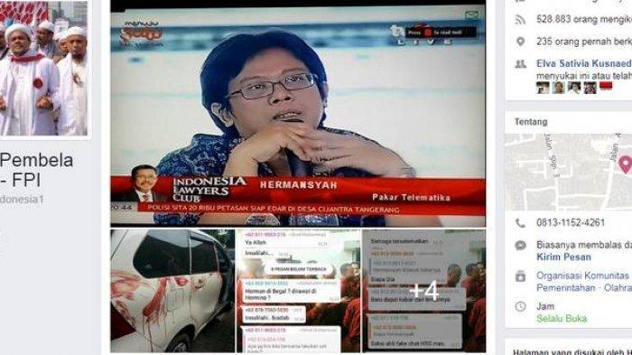Ketua GNPF MUI Bilang Ini Pemicu Penusukan Saksi Pakar IT Hermansyah