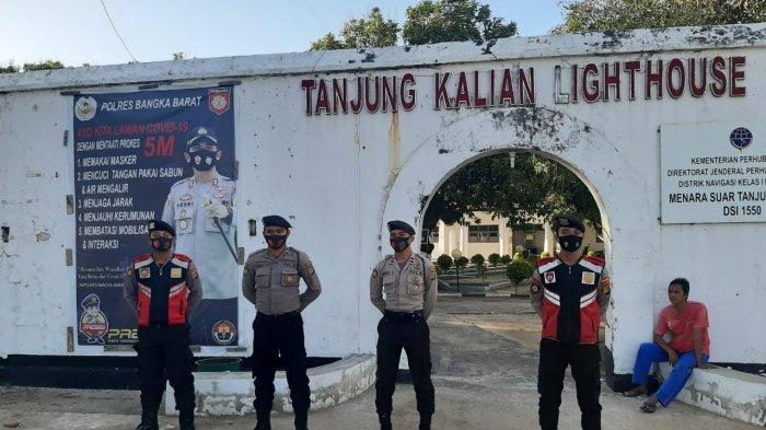 Patroli Cipta Kondisi Sat Sabhara Polres Bangka Barat Imbau Kamtibmas di Tempat Pariwisata