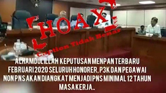 TERNYATA Video Pengangkatan Tenaga Honorer, P3K, dan Pegawai Non-PNS Masa Kerja 12 Tahun, Info Hoaks