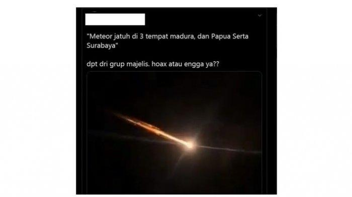 HOAX Viral Video Meteor Jatuh di Indonesia, Berikut Penjelasan Lapan