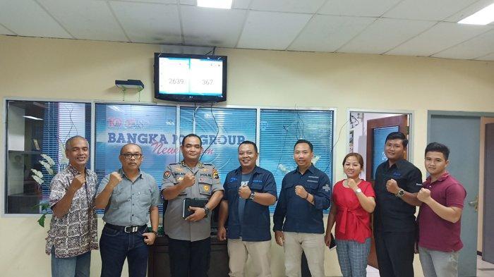Humas Polda Bangka Belitung Datangi Bangka Pos, Konfirmasi Buzzer Penyebar Hoax