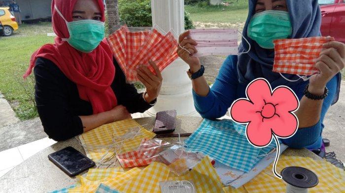Garnita Malahayati NasDem Babel Gerakan Ibu-ibu Berpartisipasi Buat Masker