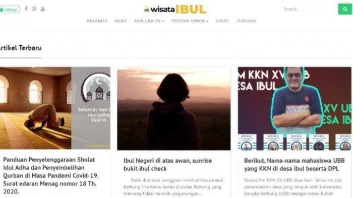 Inovatif! Mahasiswa KKN Desa Ibul Buat Blog Wisata Desa, Sarana Promosi Kekinian