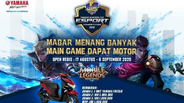 Mau Motor Yamaha FreeGO, Ayo Gabung Main Mobile Legends Yamaha Generasi 125 e-Sport Competition