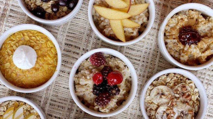 Ilustrasi oatmeal sehat dan lezat untuk menu sahur penderita diabetes