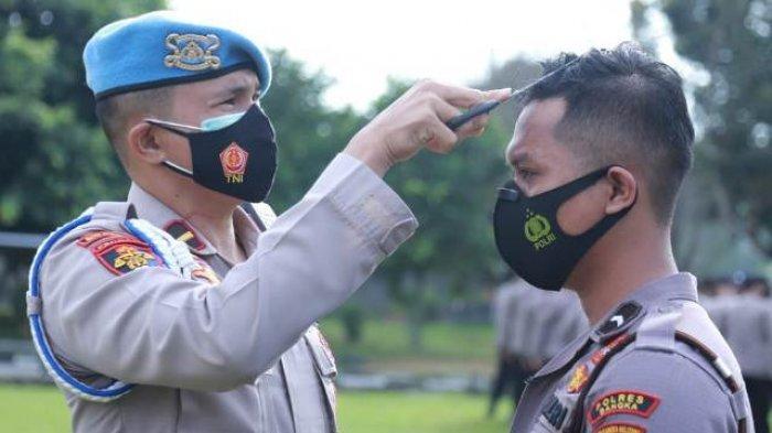 Propam Polda Periksa Rambut Personel Polres Bangka, yang Tak Rapi Langsung Dicukur
