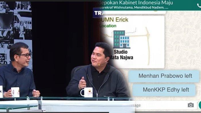 Isi Chat Grup WA Menteri Jokowi Terungkap, Erick Tohir Sindir Prabowo Left Grup Wishnutama Panik