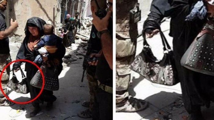 Astaga, Wanita Ini Gendong Anak Sambil Bawa Bom Bunuh Diri, Ternyata Begini yang Terjadi