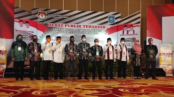 Debat Publik Terakhir Cabup dan Cawabup Bupati Bangka Tengah, Bahas Isu Pembangunan Hingga Kesehatan