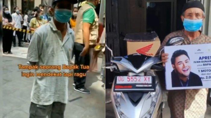Viral Kakek Bersepeda 15 KM Demi Vaksin, Ivan Gunawan Apresiasi Kirim Motor dan Uang Tunai