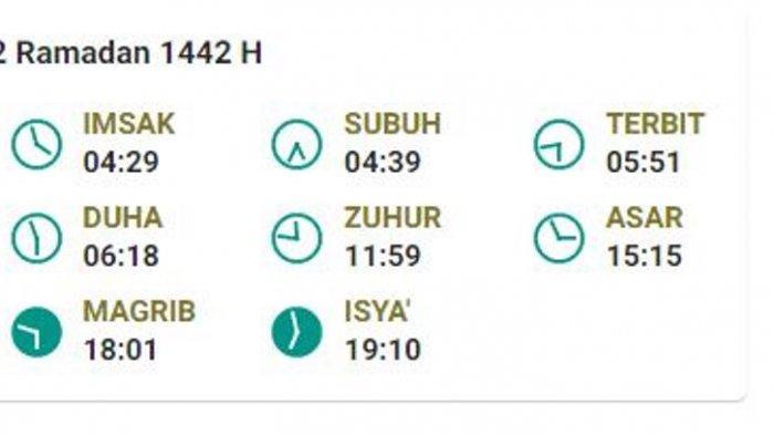 Jadwal Buka Puasa 2 Ramadhan 1441H di Pangkalpinang, 14 Rabu April 2021