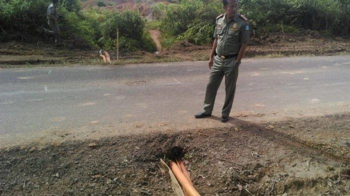Parah, Pemilik TI Ilegal di Batu Ampat Berani Rusak Fasilitas Jalan