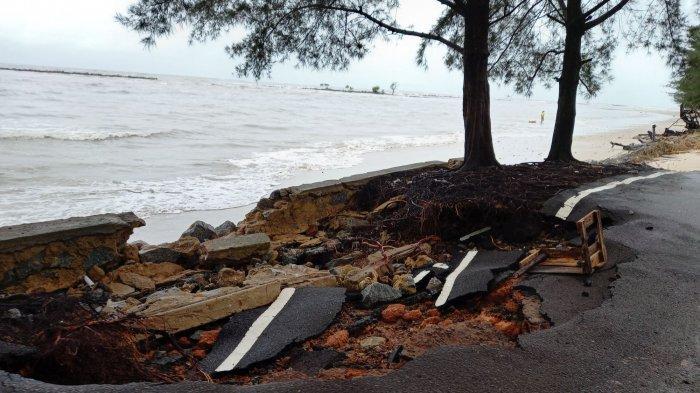 Baru Landing, Wali Kota Pangkalpinang Tinjau Langsung Kondisi Jalan Rusak di Pantai Pasir Padi - jaln-r1.jpg