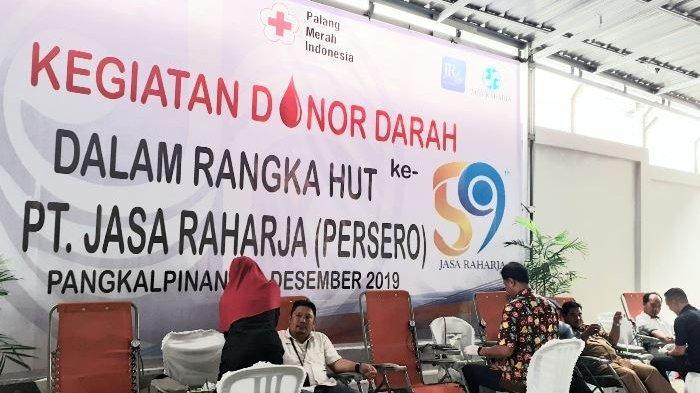 Peringati HUT Ke-59, PT Jasa Raharja Adakan Donor Darah