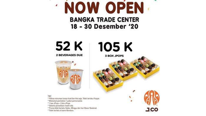 Buruan Dapatkan Promo J.CO Donuts di BTC Pangkalpinang, 3 Box Jpop dan Minuman, Periode Terbatas