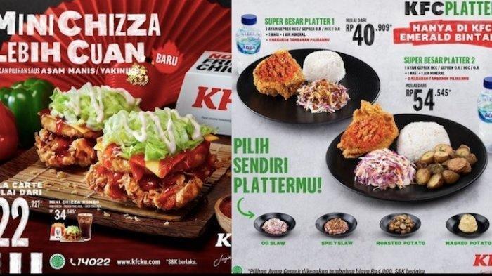 Promo KFC dengan Menu Baru Mini Chizza dan Pilih Platters Sendiri Mulai Rp 22 Ribuan