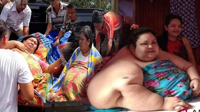 Berat 200 Kg, Emak Asal Manggar Dibopong 8 Orang Gegara Tak Bisa Jalan Menuju Rumah Sakit