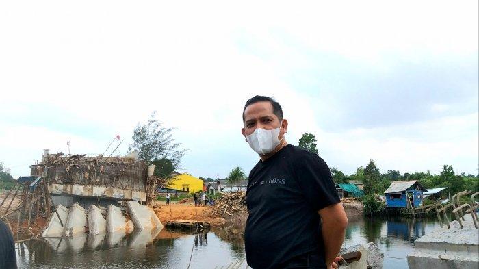 Wakil Ketua DPRD Tinjau Jembatan Gantung Yang Roboh : Saat Rapat Anggaran Sempat Diperdebatkan