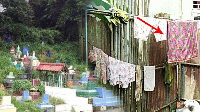 Ketemu Kain Usai Gali Kubur Lalu Dijemur Depan Rumah, Tetangga Lewat Menjerit Lihat Ada Perempuan