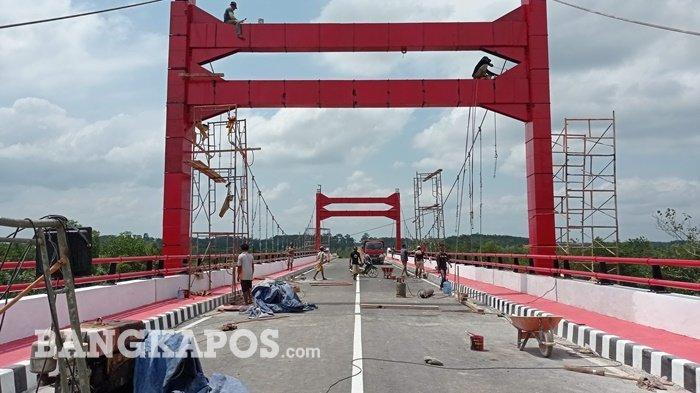 Uji Beban Jembatan Jerambah Gantung Belum Dilakukan, Tapi Sudah Muat Beban 30 Ton