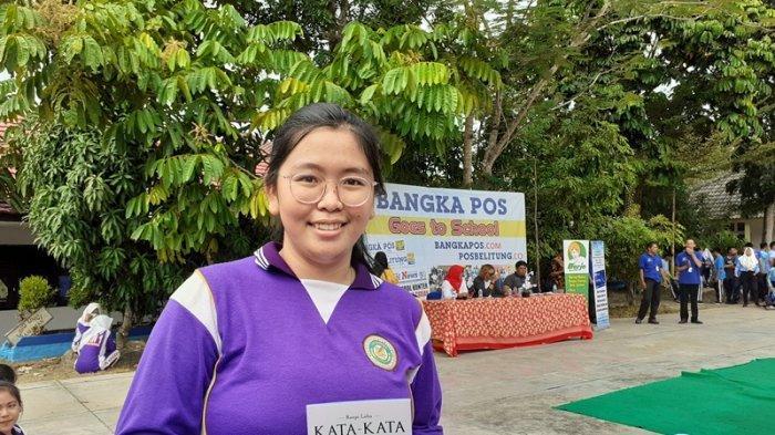 Ikuti Acara Bangka Pos Goes To School, Jeslyn Siswa SMKN 1 Pangkalpinang Tertarik Jadi Jurnalis