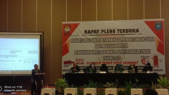 Pleno Rekapitulasi Penetapan Hasil Perhitungan Suara, Ketua KPU: Semoga Bisa Diterima Paslon