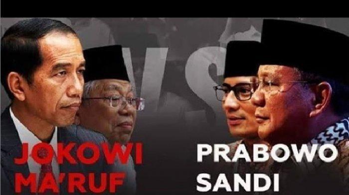 Terbaru Real Count KPU Pilpres 2019, Minggu (5/5) Jam 18.30 WIB, Jokowi 56.24%, Prabowo 43.76%