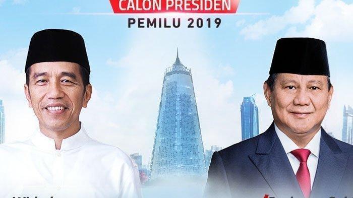 Terbaru Hasil Sementara Real Count Pilpres 2019 KPU Jokowi vs Prabowo Jumat Sore
