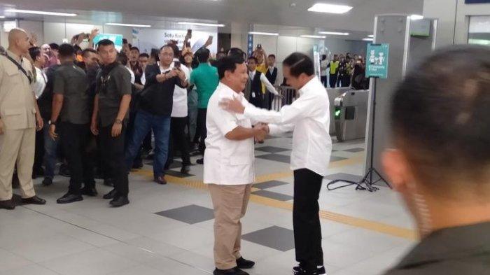Bertemu dengan Jokowi, Prabowo Subianto: Tidak Ada Lagi Cebong dan Kampret, yang Ada Merah Putih